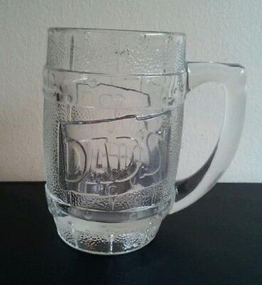 Dad's Root Beer Soda Advertising Father's Day Heavy Barrel Glass Mug (loc-up-st)