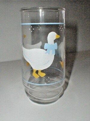 Indiana COUNTRY GOOSE Blue Ribbon & Raindrops 14 oz Glass Tumbler/s