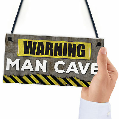 Wall Plaque - Man Cave - Workshop - Garage - Shed - Fathers Day Dad Grandad Gift