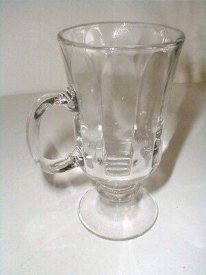 Libbey Clear Glass Pedestal/Footed 8 oz Irish Coffee/Latte Mug/s