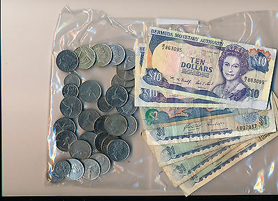 $34.00 Bermuda Dollars Coin and Currency  = U.S. $34.00