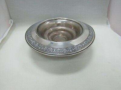 Weighted Sterling Silver Art Nouveau Filigree Scroll Repousse Compote Bowl