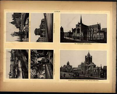Belfast Dublin Royal Ave. St Patrick Cathedral 1890s antique Ireland city views