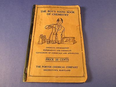 Vintage Porter Chemical Company 1927 The  Boy's Hand Book Of Chemistry