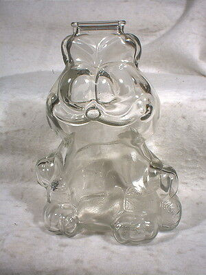 Vintage, Garfield the Cat, Clear Glass Bank