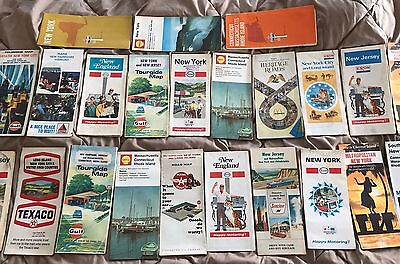 Lot of Vintage US States Road Maps 20+ Lot 1