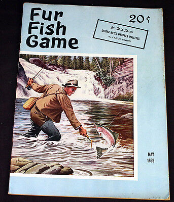 Vintage Fur Fish Game 1956 Magazine Fly Fishing Cover Mexico's Sportsmans Utopia