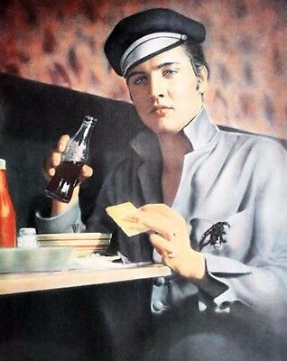 ELVIS PRESLEY colorized still eating chili 8x10 or 11x14 or 16x20 - (y490v)