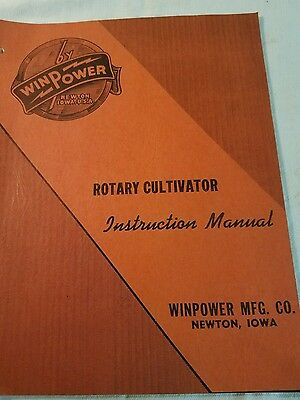 WINPOWER 1950's ROTARY CULTIVATOR BROCHURE VINTAGE Winpower instruction manual