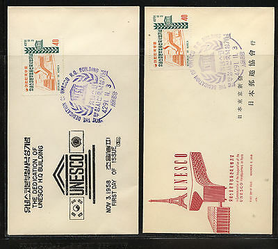 Korea   286    2  different  cachet  covers      KEL1130