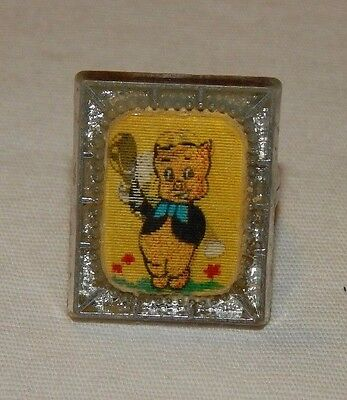 Vintage Warner Brothers Porky Pig flicker premium ring