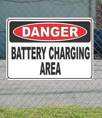 """DANGER Battery Charging Area - OSHA Safety SIGN 10"""" x 14"""""""