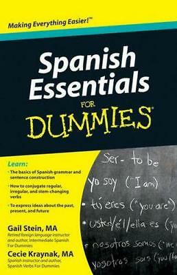 NEW Spanish Essentials For Dummies By Gail Stein Paperback Free Shipping