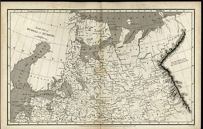 Northern Russia in Europe Ladoga Lake White Sea 1809 scarce antique engraved map