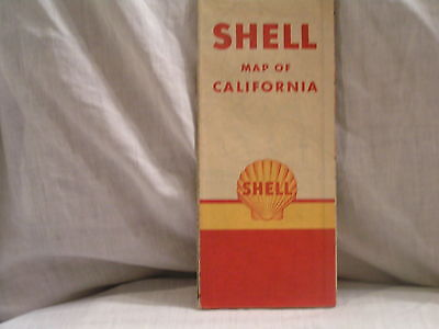 1940 Shell Oil Co Road Map For California