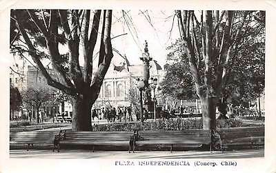 CONCEPCION, CHILE, PLAZA INDEPENDENCIA, STATUE, REAL PHOTO PC, used c. 1960's