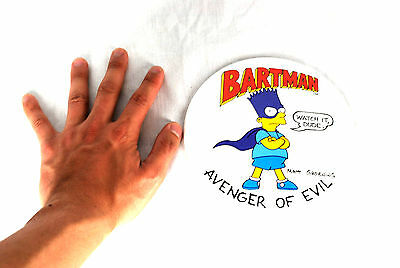 """The Simpsons Comic 6"""" Button Pin 1989 Bartman Bart NEW Large OVERSIZED Big"""