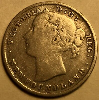 Canada - Newfoundland - Queen Victoria - 20 Cents - 1896 - Wide Date - FREE SHIP