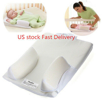 US Anti Roll Pillow Sleep Positioner For Baby Infant  Prevent Flat Head Cushion