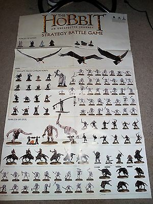 """The Hobbit Lord Of The Rings Strategy Battle Game Double Sided Poster 31"""" X 20"""""""