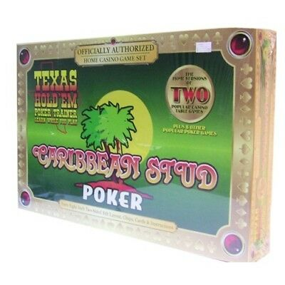 TEXAS HOLD'EM TRAINER Caribbean Stud Poker Box Set NEW IN BOX