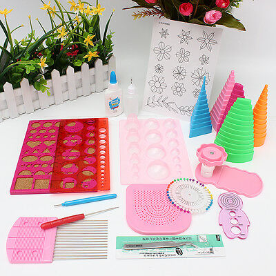 AU Pro 19in1 DIY Paper Quilling Work Board Mould Grid Guide Craft Tool Full Kit