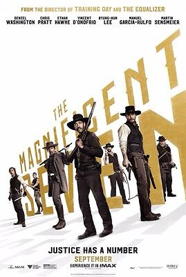 THE MAGNIFICENT SEVEN original 27x40 great style movie poster 2016