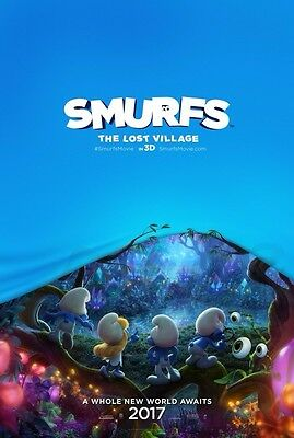 SMURFS: THE LOST VILLAGE great original 27x40 movie poster with