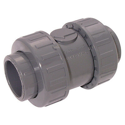 "Upvc And Abs Tubes & Valves - 1"" Id Abs Check Valve Double Union 8-00073"