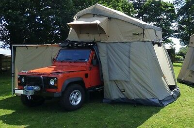 Land Rover Discovery 1&2 4 Man Roof Tent With Annex Travel Outdoor Camping