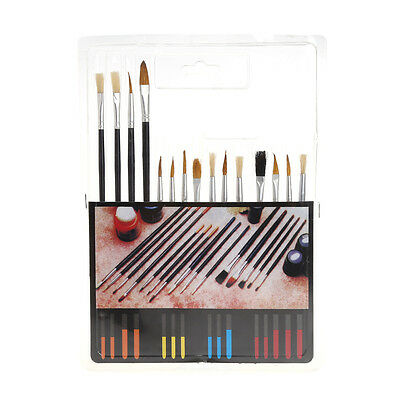 15Pcs Artist Paint Brush Set Oil Watercolor Painting Acrylic Drawing Brushes New