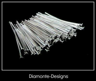 200 x 16mm Silver Plated Head Pins Jewellery Bead H24