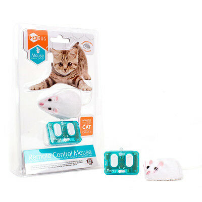 Hexbug Remote Control Mouse Cat Toy in White NEW