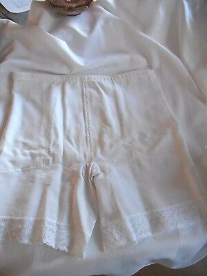 Vintage Long Leg White Girdle NWOT by Subtract Size 40