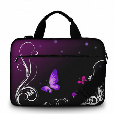Silent Monsters Canvas Laptop Tasche 15,6 Zoll (39,6cm) Design Purple Butterfly