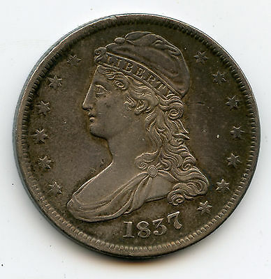 1837 Capped Bust Half Dollar Reeded Edge Reverse 50 Cents