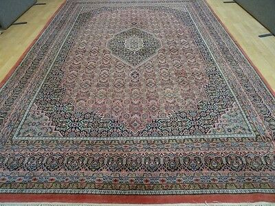 "Large PERSIAN style RUG CARPET Wool HAND MADE Vintage ANTIQUE 11ft 6"" x 8ft 2"""