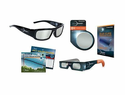 Celestron Solar Eclipse Observing Viewing  Imaging Kit 8-Pc ISO Glasses Filter