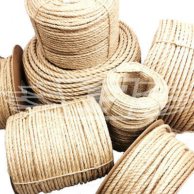 8mm NATURAL SISAL ROPE COILS FOR DECKING, GARDEN, CAT SCRATCHING POST PARROT