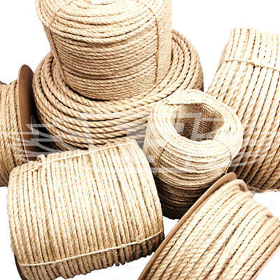 12mm, NEW NATURAL SISAL ROPE COILS, DECKING, GARDEN, CAT SCRATCHING POST PARROT