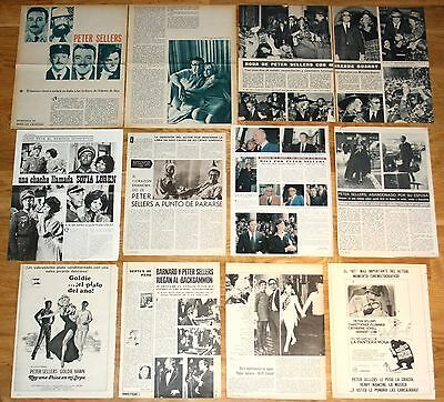 PETER SELLERS spain clippings 1960s/70s photos the pink panter magazine articles