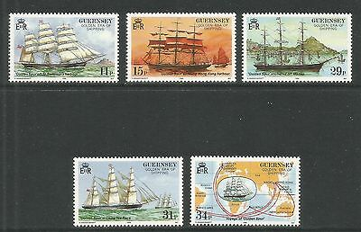 Guernsey 1988 Golden Age of Shipping--Attractive Ship Topical (367-71) MNH