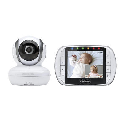 "Motorola MBP36S Remote Wireless Video Baby Monitor 3.5"" Full Color LCD + Camera"