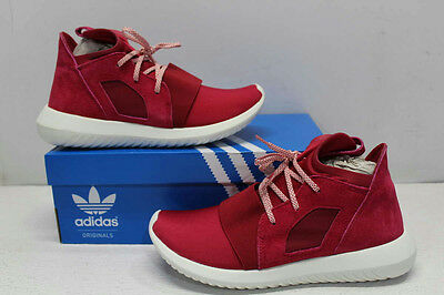 Adidas Women's Size 8 Tubular Defiant W Running Shoes- Pink/White S75902
