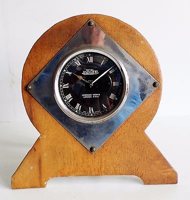 SUPERB RARE OLD JAEGER MOTOR CAR CLOCK IN EARLY SHEDBUILT FRAME - CIRCA 1930's