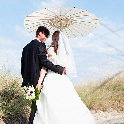 White Paper Parasol Umbrella Bridal Accessories Photo Prop Wedding Party Decor