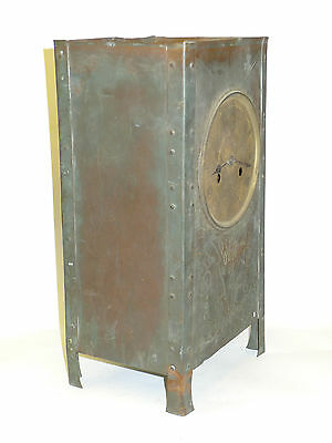 Antique Arts & Crafts/Newlyn style/Nouveau COPPER striking mantel/backet clock