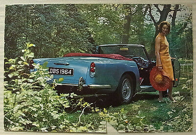 ASTON MARTIN DB5 CONVERTIBLE Sports Car Sales Specification Leaflet 1964