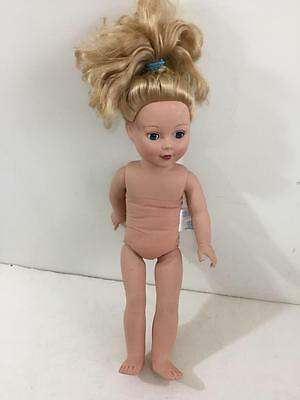"Madame Alexander 18"" doll 2013 on tag 2009 on neck blond soft torso nude naked"