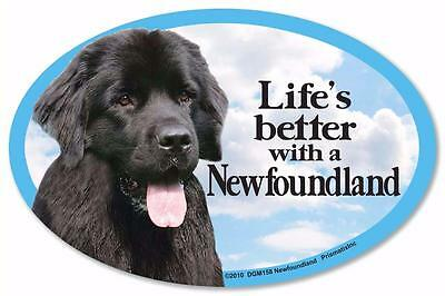 Life's Better With A Newfoundland Dog Car Fridge Plastic Magnet Newfie